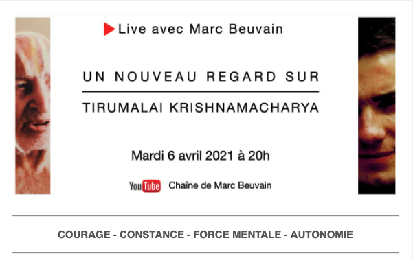 6 avril 2021 | Live : un nouveau regard sur Tirumalai Krishnamacharya